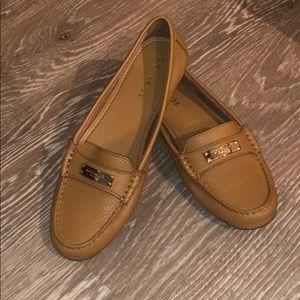 Coach Tan Fredrica Pebbled Grain Leather Loafer